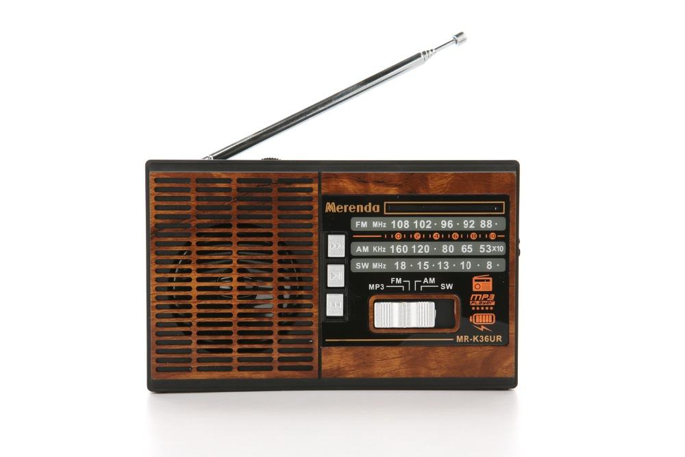 Free Shipping (Blue) FM/AM/SW 3 BAND RADIO USB/TF CARD MP3 PLAYER MR-K36UR(China (Mainland))