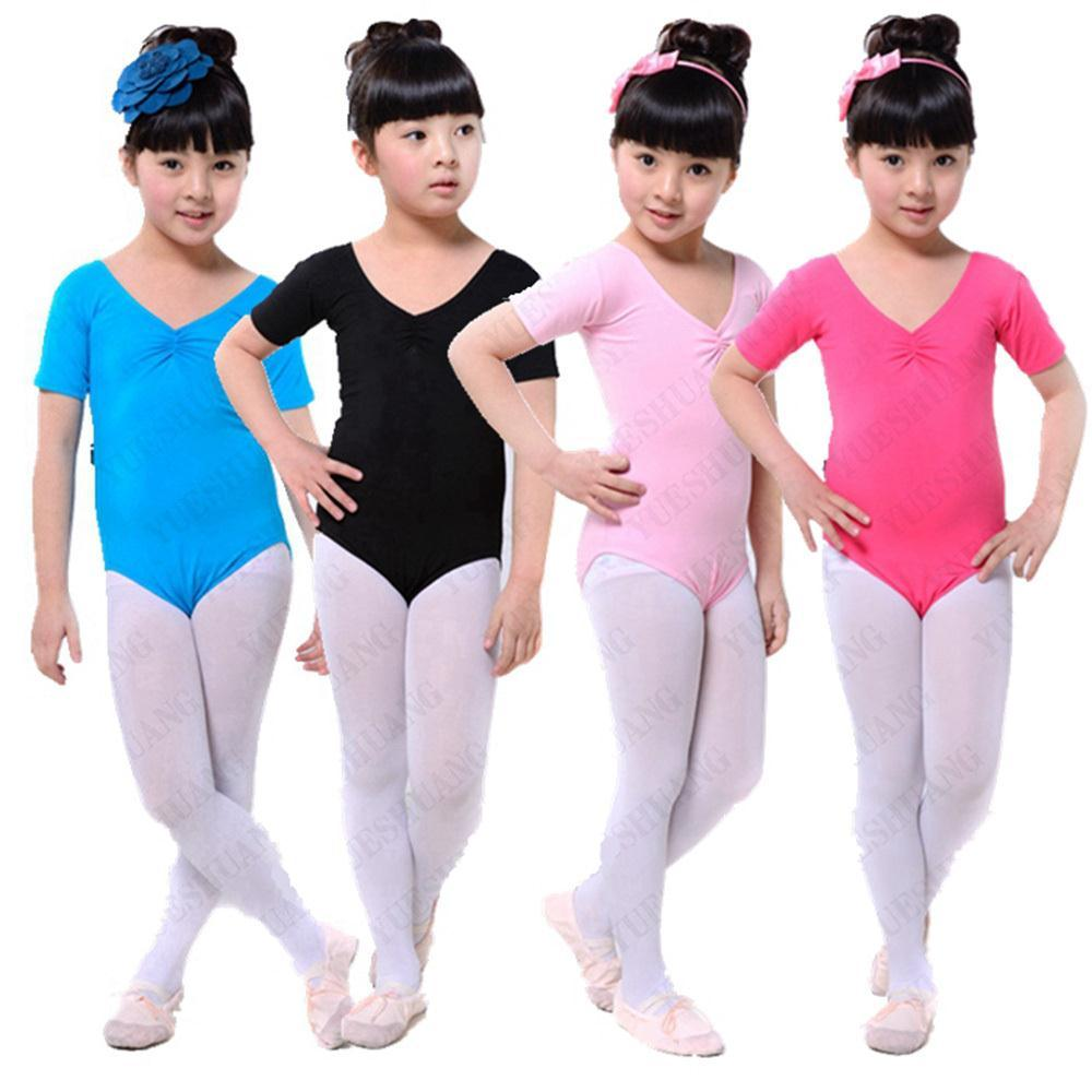 Child Girls Kids Solid Multicolor Slim Ballet Gymnastics Jumpsuit Leotards 3 12Y Free Shipping