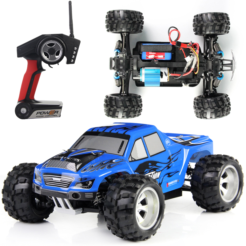 Original Box + WLtoys A979 RC Car 1:18 Full Scale Remote Control Car RC Monster Truck 4WD with Shock System 50KM/H (In stock)(China (Mainland))