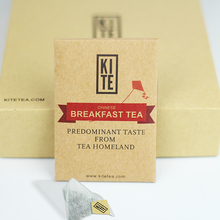 Chinese Breakfast Tea, 16 Pieces, Whole Leaves Black Tea in Pyramid Tea Bags, (1 Gift Box) by KITE.