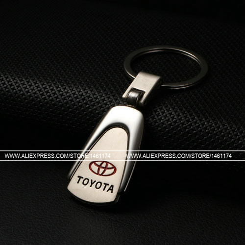 New Fashion TOYOTA Car Key Chain Car Keychain Logo 3D Auto Keychain Metal Lover Gift Free Shipping in MG Keychain Store(2pcs)(China (Mainland))