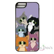 For iphone 4/4s 5/5s 5c SE 6/6s plus ipod touch 4/5/6 back skins mobile cellphone cases cover Mixed Cats Kitten Cute