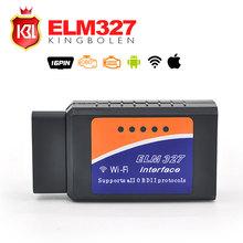 2016 Latest Version V1.5 ELM327 WIFI OBD2 / OBDII Auto Diagnostic Scanner Tool ELM 327 WiFi Diagnostic Tool(China (Mainland))