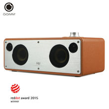 GGMM M3 WiFi Wireless Bluetooth Speaker Stereo Audio Receiver Sound System Wooden Subwoofer Speakers Leather HiFi Music Player(China (Mainland))
