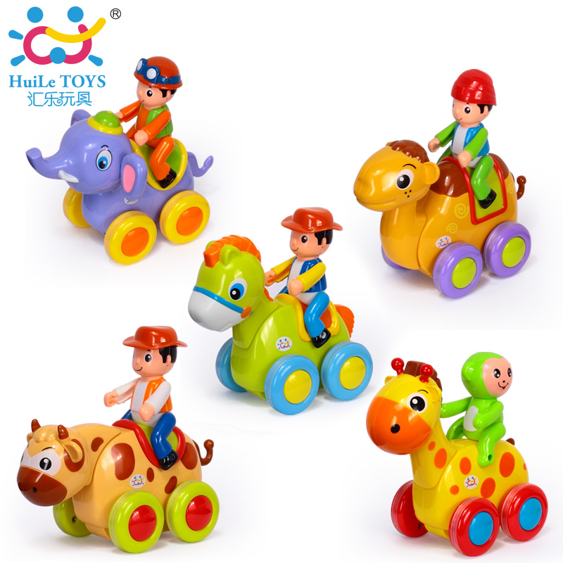 Wholesale Early Educational Toddler Baby Toy Push and Go Friction Powered Swing Animal Car Toy Cheap Toys For Kids Birthday Gift(China (Mainland))