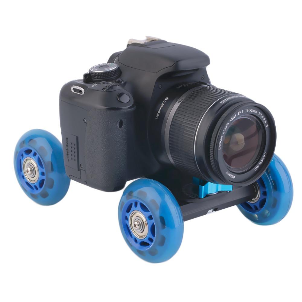 In stock! Blue 4-wheel Mute Rail Track Drift Car Skater Slider For DSLR Video Camera Newest(China (Mainland))