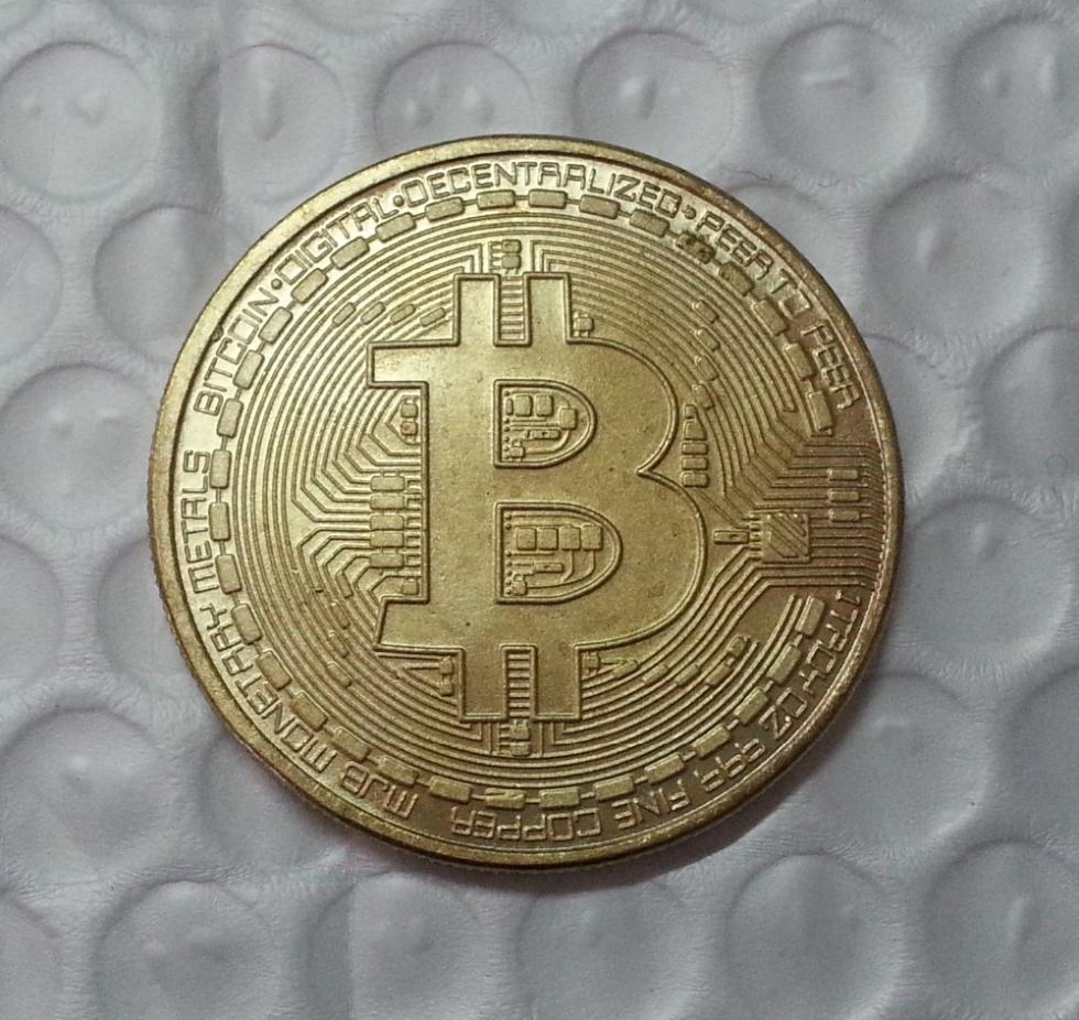 FREE SHIPPING Bitcoin commemorative mint gold bullion numismatics monnaie de paris expanded metal gold coin collectible bitcoins(China (Mainland))
