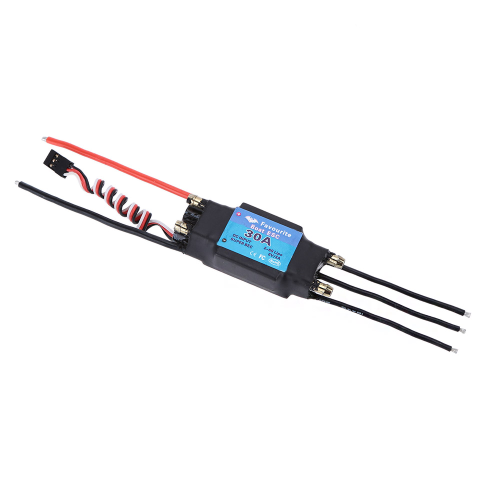 30A 2-6S LiPo Battery Waterproof Brushless Motor Electronic Speed Controller ESC with 5V/3A Switch Mode SBEC for RC Boat Models(China (Mainland))