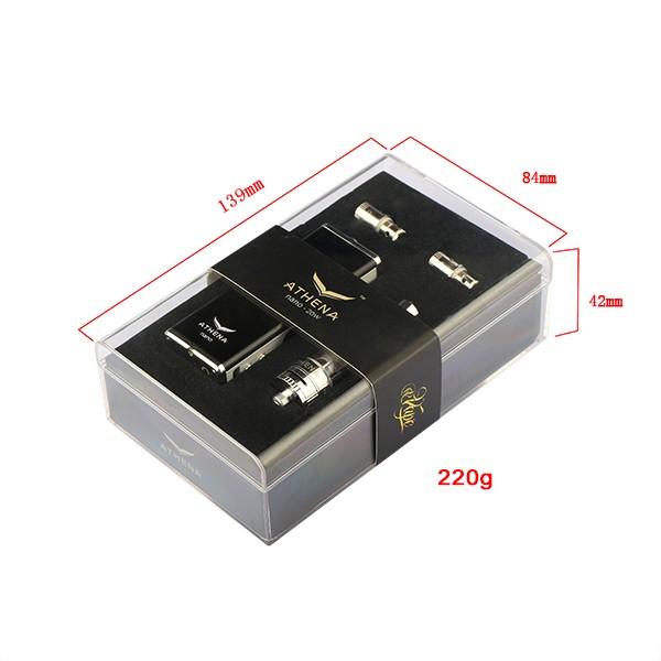 ถูก ร้อนขายบุหรี่อิเล็กทรอนิกส์Athena 20วัตต์กล่องสมัยชุดที่มีatomizerVapeแบตเตอรี่OLED