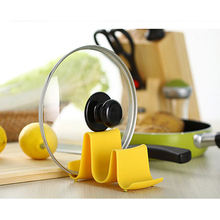 2016 New Wave Style Pan Pot Cover Rack Stand Holder Kitchen Accessories Utensil Tool Random Color Beauty Easy Use