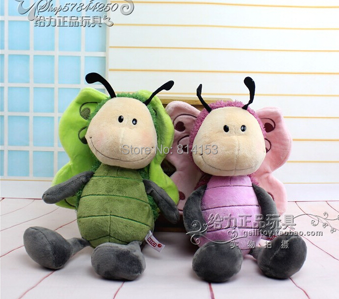 Free shipping 50cm NICI cute butterfly plush doll stuffed animal soft baby toy for children's Xmas best gift(China (Mainland))