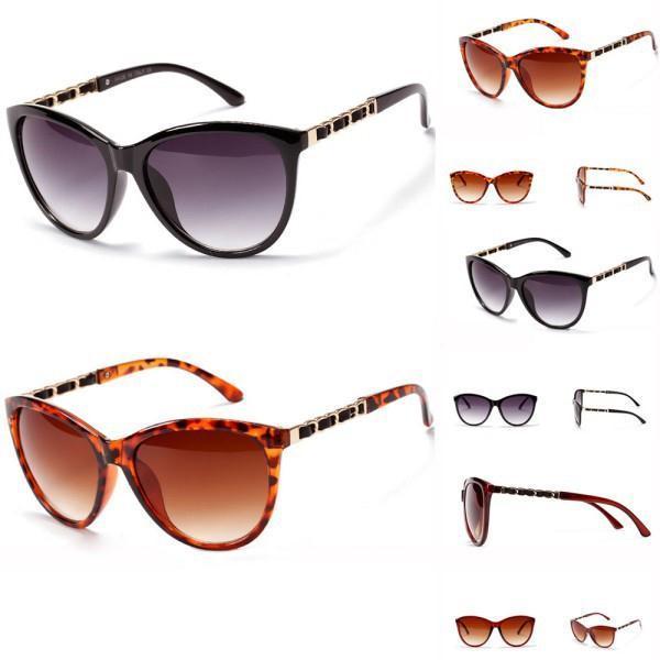 UV 400 Protection Womens Mens Sunglasses Plastic Frame Metal Legs Eyeglasses YRD(Hong Kong)