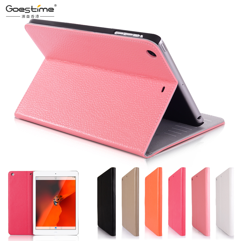 GOESTIME 2016 New Arriving For iPad Air Genuine Leather Case Air Cover Case Luxury Air Cover For Apple ipad Case Free Shipping(China (Mainland))
