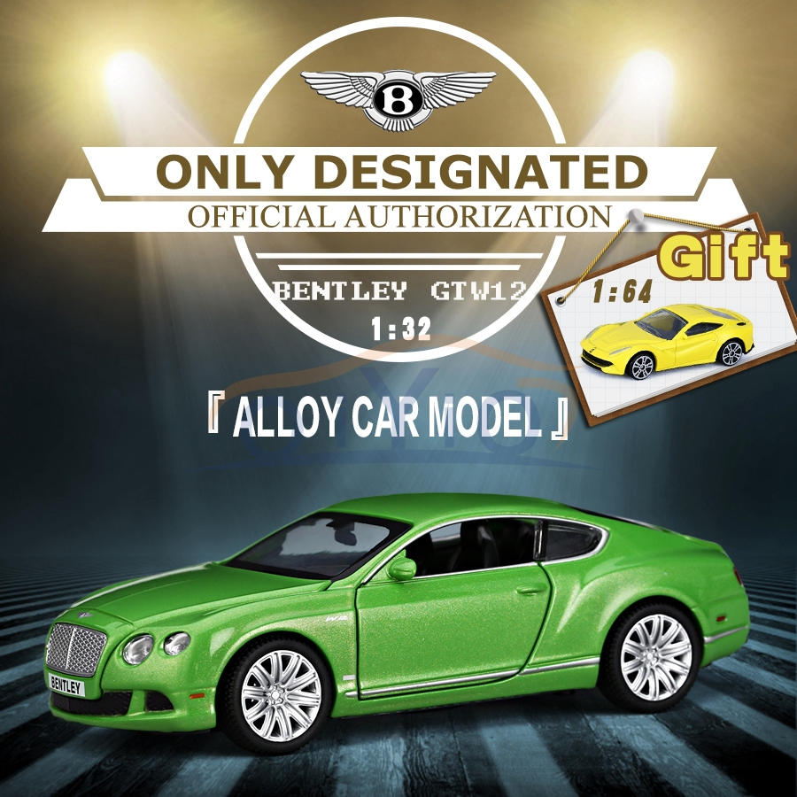 1:32 Scale Alloy Diecast Authorized Car Toy Model BENTLEY Continental Collection Model Pull Back Car Toy Collection Gift VB32073(China (Mainland))