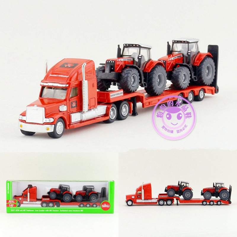 Siku 1:87/Diecast Toy Model/Simulation:A Truck Two Massey Ferguson Tractors/For Children's Gift/Educational/Collection