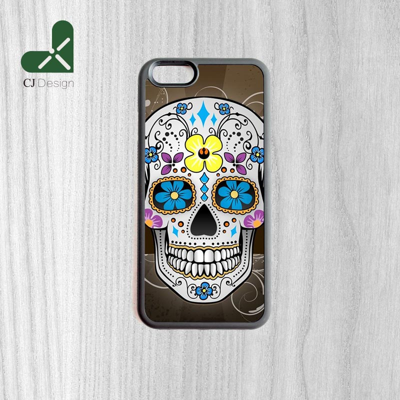 DIY Design Mexican Sugar Skeleton Skull Shape Soft Case Cover For iphone 6 6s And 6 6s Plus Smartphone Shell(China (Mainland))