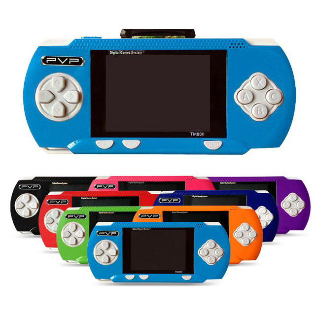 2014 Newest style PVP pocket6 Handheld Game Console PVP Station 8-Bit Video Games Player+ free game card(China (Mainland))