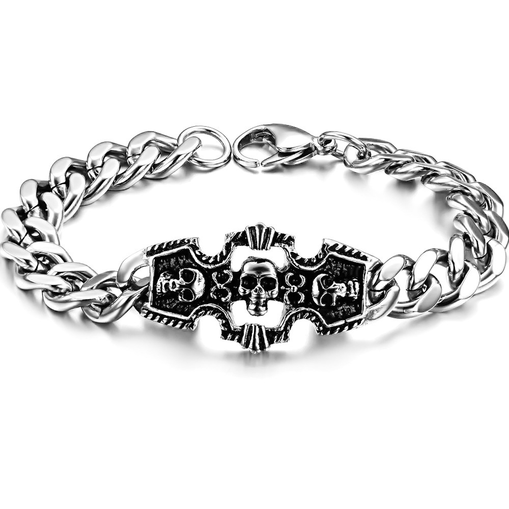 Skeleton hand stainless steel bracelets health personalized GS618(China (Mainland))