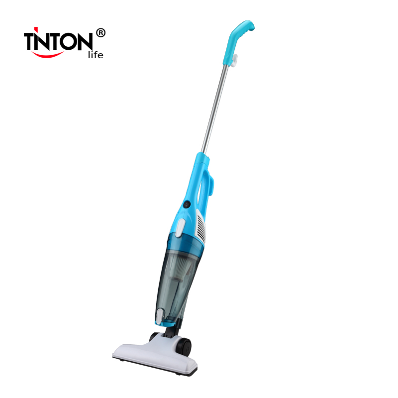 TintonLife New Ultra Quiet Mini Home Rod Vacuum Cleaner Portable Dust Collector Home Aspirator White&Blue Color(China (Mainland))