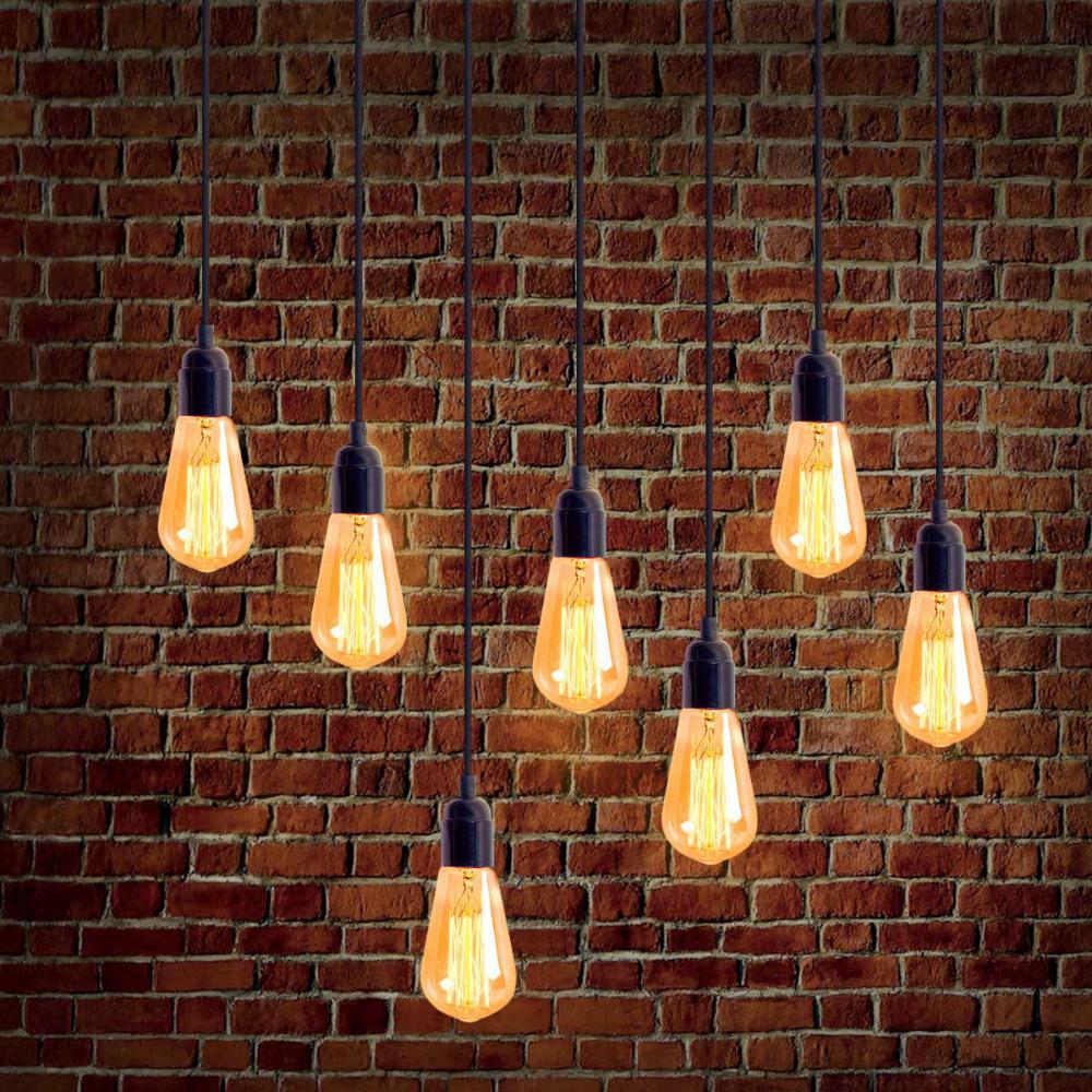High quality lamp holder braided wire pendant light with E26 socket bulb base 1pcs lamp holder Bar Decorative Lamp Indoor Decor(China (Mainland))