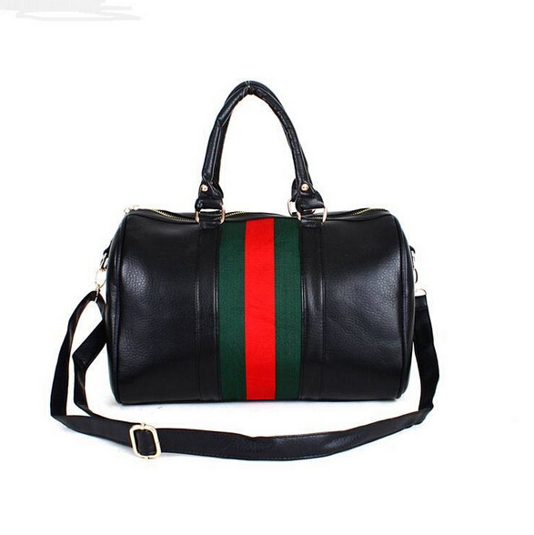 2015 new fall fashion women bag red and green striped pillow bag simple messenger bag retro handbag free shipping(China (Mainland))