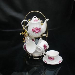 High Quality Elegant Coffee Sets Fine Bone China Coffee Cup Gift 5 sets lot free shipping