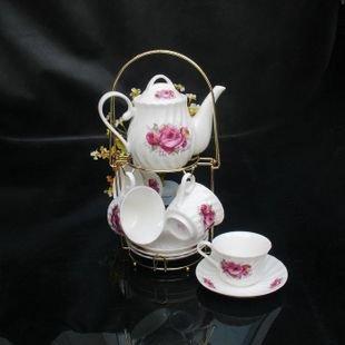High Quality Elegant Coffee Sets Fine Bone China Coffee Cup Gift 5 sets lot free shipping