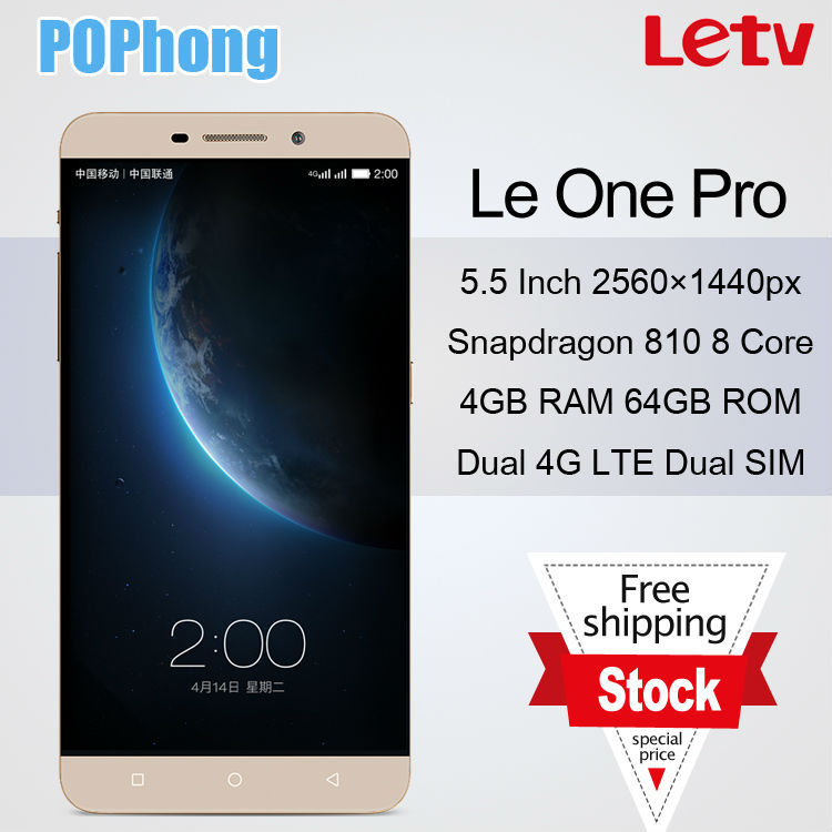 Original Letv Le 1 Pro 4G LTE Mobile Phone Snapdragon 810 Octa Core 5.5 inch 2560x1440px 4G RAM Dual SIM 13MP Le One Pro(China (Mainland))