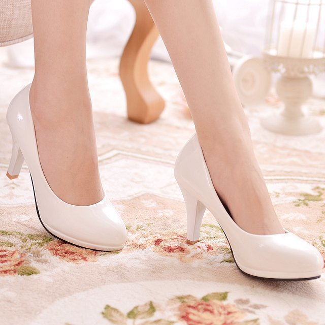 2015 New Fashion Womens Ladies Stiletto High Heels Office Dress shoes Work Court Platform Pumps Round top - Hard-working people store