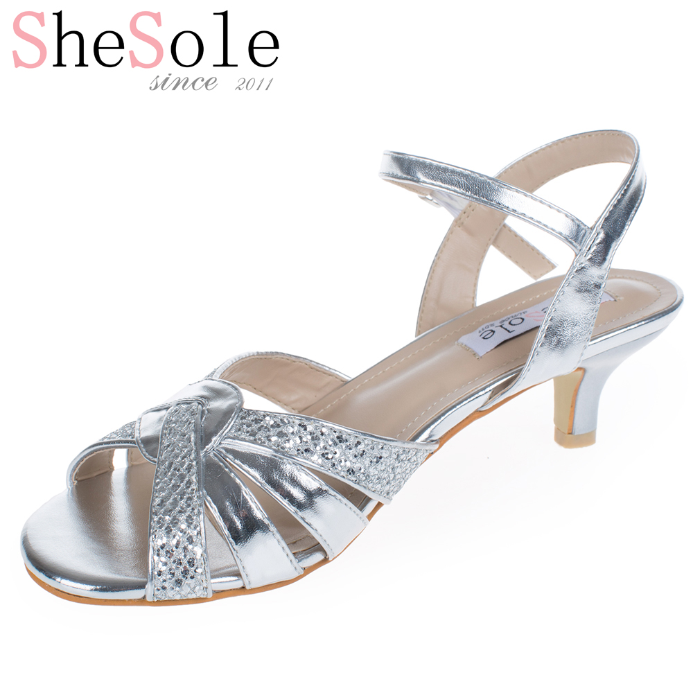 Silver Shoes Kitten Heel Wedding