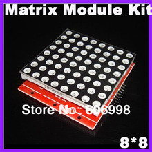 10pcs/lot 8X8 Matrix Module Kit Red Color LED Display For Arduino Compatible(China (Mainland))