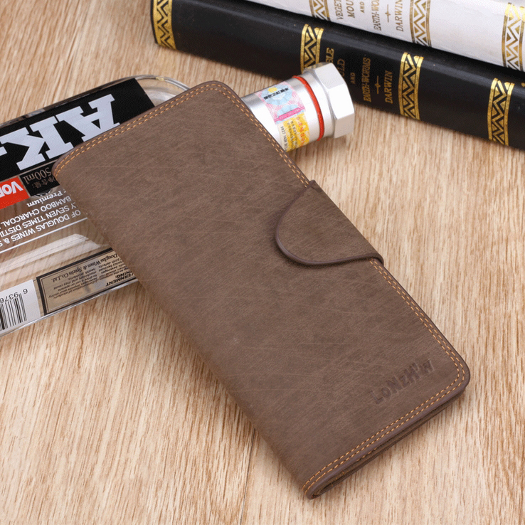 New Fashion mens wallets genuine leather Mens Wallet Classial  Simple and Elegant Portable for Men Wallets high quality<br><br>Aliexpress