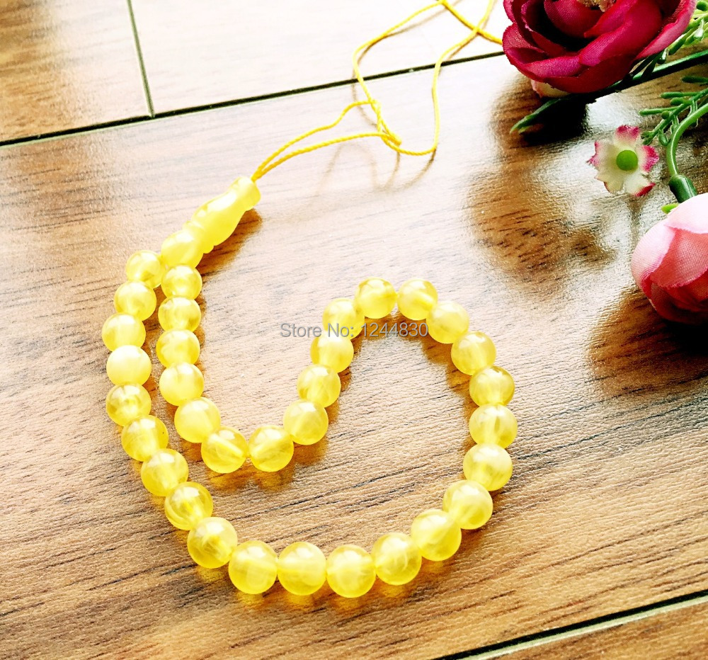 2015 New 33 Islamic Muslim Prayer Beads Amber Beeswax Dust Peace, Lasting Flavor Sandalwood.Lowest . - Junai jewelry shop store