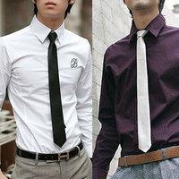 Hot sale man's fashion necktie Han edition solid color ties ! Men's Fashion Multicolor 15 Colors Tie C405