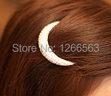 Newest Crystal Moon Rhinestone Hair Accessories For Women Hair Clips For Girls Headdress Hairpin Clamps HB144