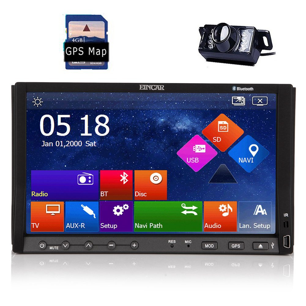 Rear Camera Included Win 8 Car DVD Player Audio Stereo 7-inch Double-din Capacitive Touchscreen with mp3/mp4/AM/FM/RDS/Sub/AUX/I(China (Mainland))