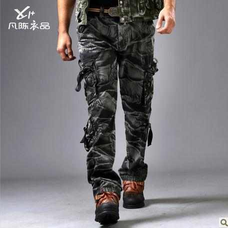 cargo army fatigue pants - Pi Pants