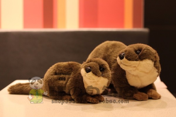 Free shipping 100% Original single Otter Doll Otter Plush Toys Wild animals Doll for gift<br><br>Aliexpress