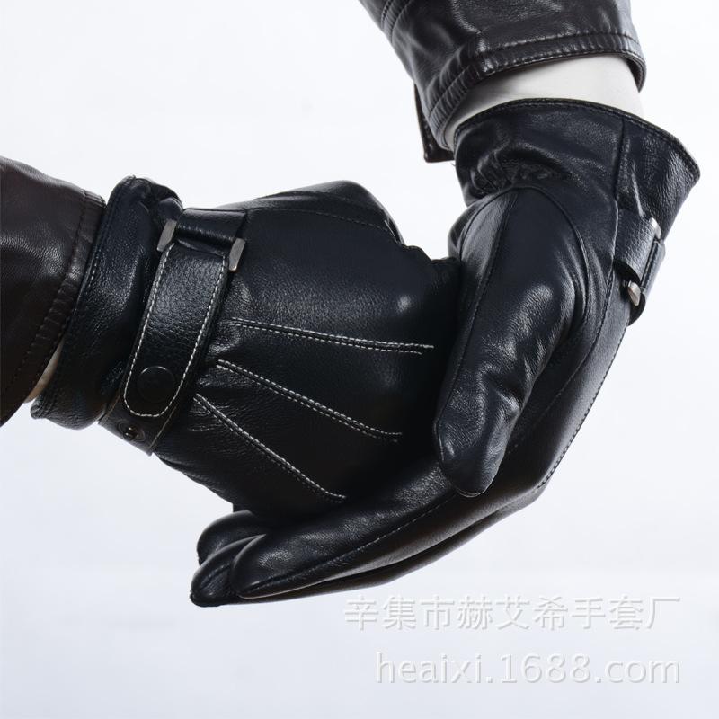 Online kopen Wholesale mannen bruin lederen handschoenen uit China mannen bruin lederen