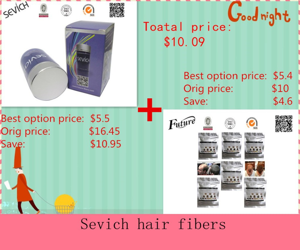 Set Of Hot Selling Hair Treatment Hair Building Fibers Sevich 25g+Refill Fiber 25g 10 colors Available(China (Mainland))
