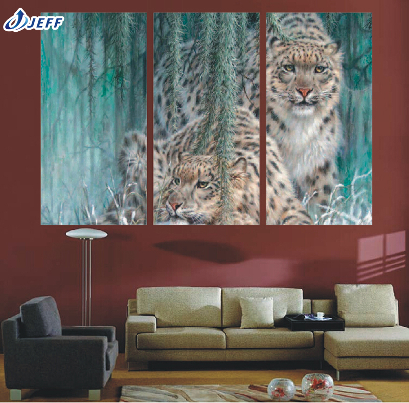 3 group large hd forest cheetah canvas print painting for living room wall art picture Canvas prints for living room