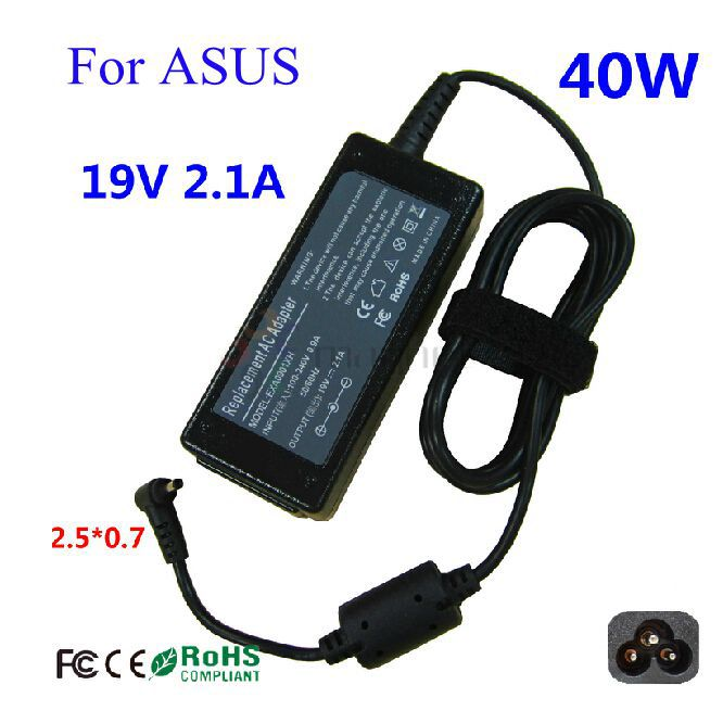 19V2.1A 2.5*0.7mm Netbook Power Supply Adapter Charger For ASUS 1015PX 1015PE 1015PW 1015PEM eee PC 1005HAG 1001PX 1215N(China (Mainland))