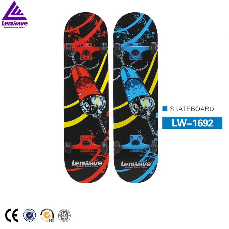 1 Piece High Quality Maple Wood Skateboard Lenwave Brand Adult Extreme Sport High Speed Skate Board