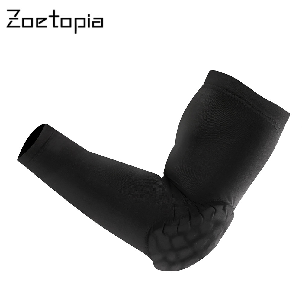 1PCS Elbow Protector Elastic Gym Sport Basketball Arm Sleeve Shooting Crashproof Honeycomb Elbow Support Pads Guard Sport Safety(China (Mainland))