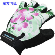 Half-finger exercise cool cheap wholesale flower gloves, cycling gloves sports gloves