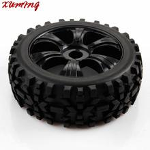 Black 1/8 Scale RC Off Road Car Buggy Racing Tires Tyre and Wheels 4pcs(China (Mainland))