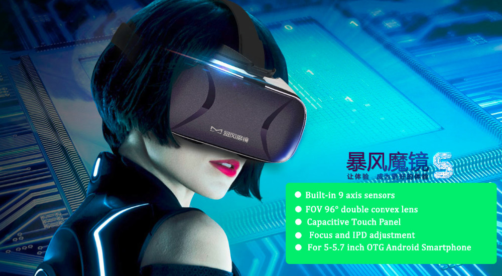 WV Baofeng Mojing 5 VR Virtual Reality 3D Glasses within Touchpad fit for 5-5.7 inch OTA Android Smartphone better than Mojing 4
