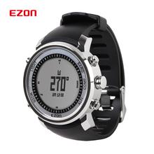 Fashion EZON Digital Watch Men Outdoor Sports Hiking Mountaineering Climbing Watches 50M Waterproof Altimeter Compass Barometer