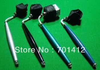 10pcs/lot Pool Table Snooker chalk holder pocket chalk holder  billiard 9-ball  pen design leather chalk holder free shipping