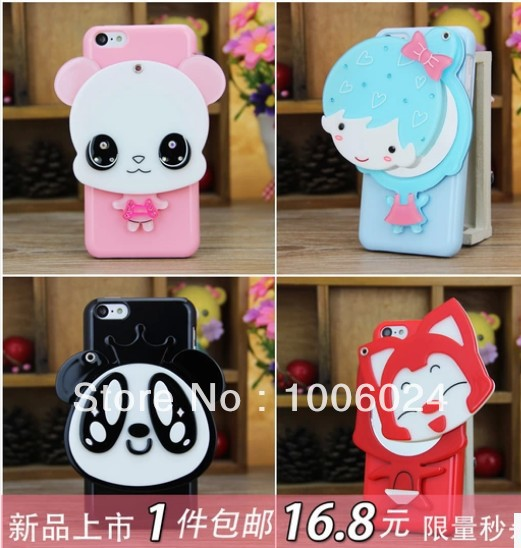Lovely mirror for iphone4 4s phone cover mobile phone case for iphone4 4s latest mobile phone sets shell(China (Mainland))